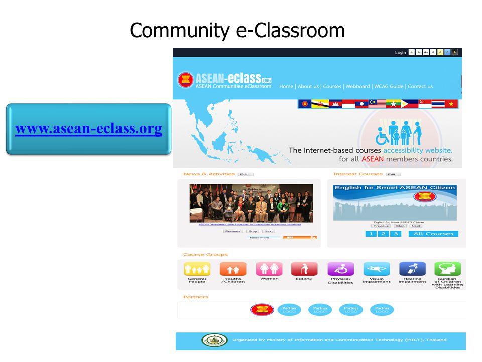 Community e-Classroom 42 www.asean-eclass.org