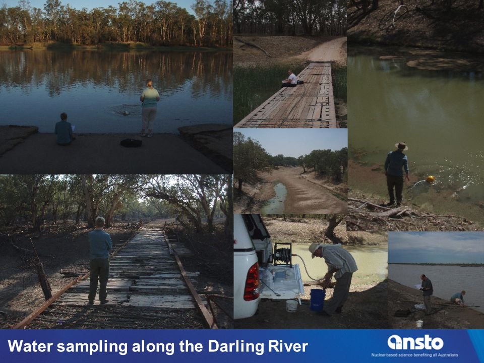 Water sampling along the Darling River