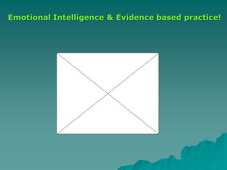 Emotional Intelligence & Evidence based practice!