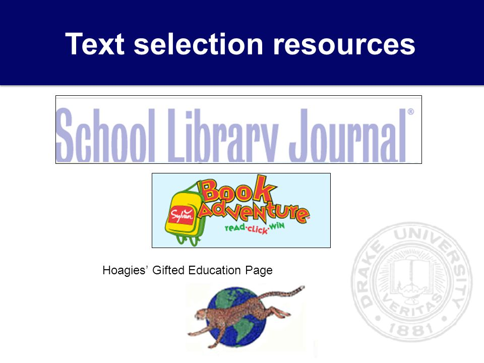 Text selection resources Hoagies' Gifted Education Page