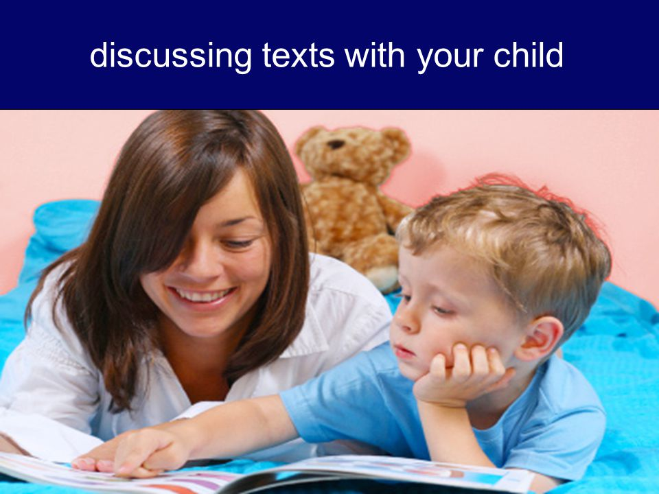 discussing texts with your child