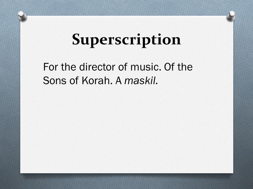 Superscription O Genre O Author O Type