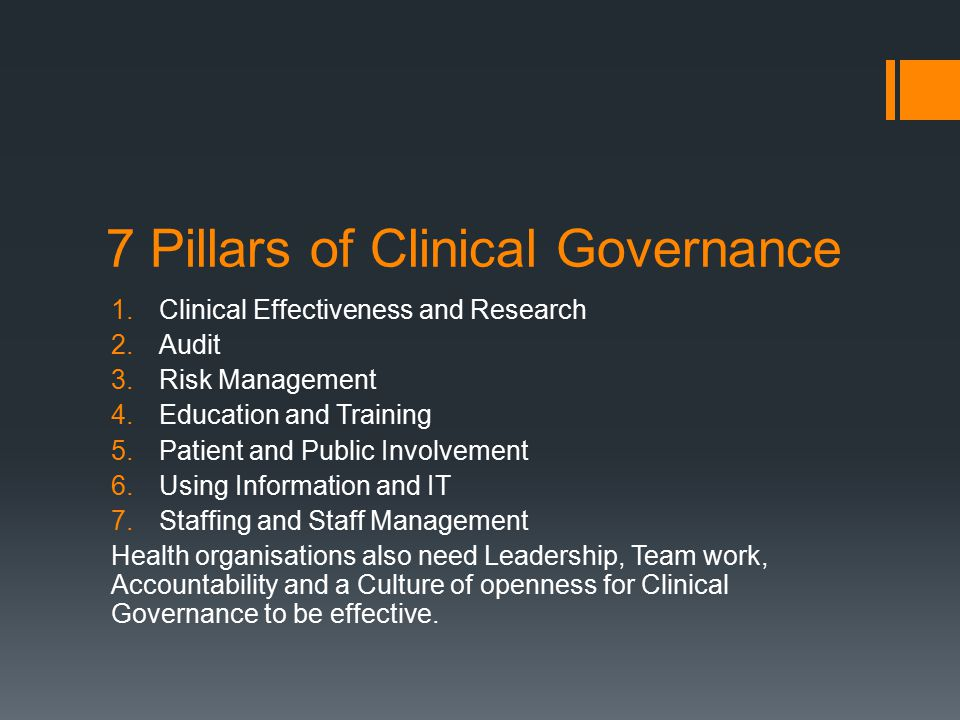  Clinical Governance key components video Clinical Governance key components video