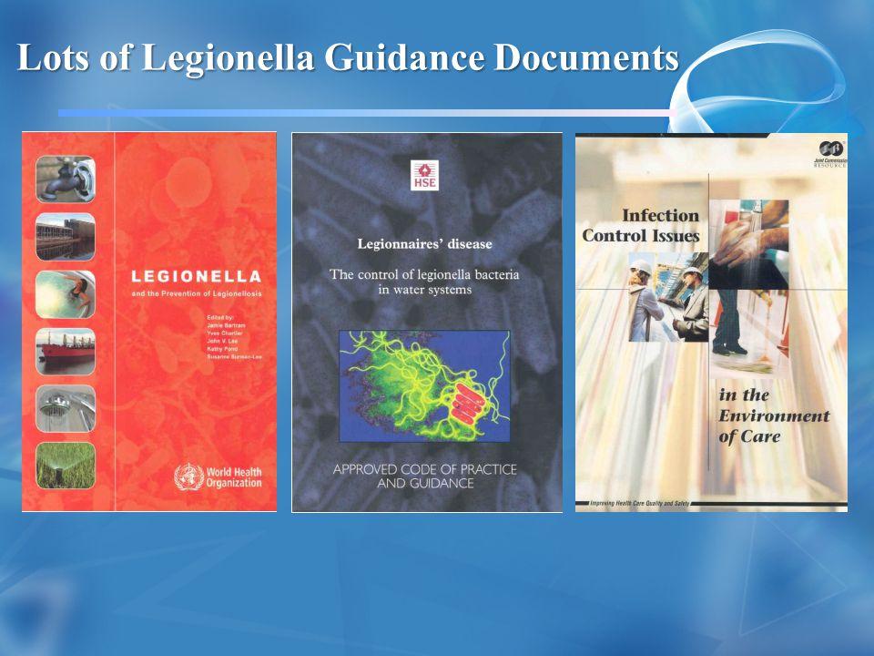 Lots of Legionella Guidance Documents