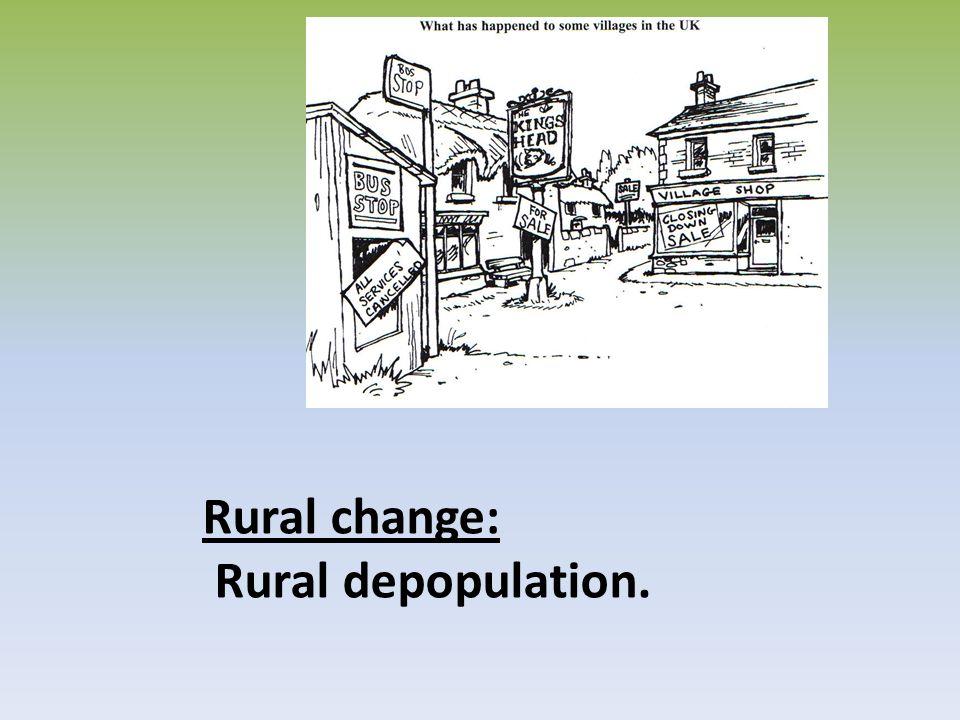 Rural change: Rural depopulation.