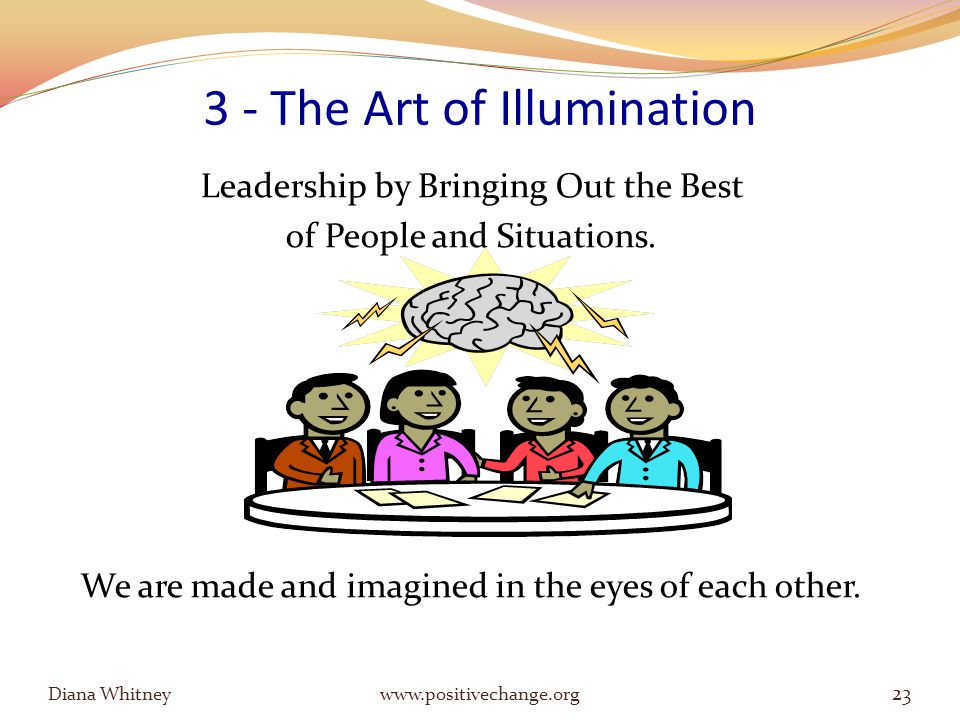 3 - The Art of Illumination Leadership by Bringing Out the Best of People and Situations.
