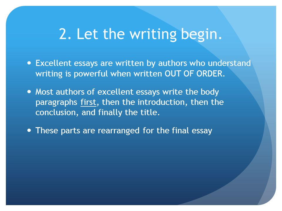 writing a five paragraph essay writing essays or themes requires  let the writing begin