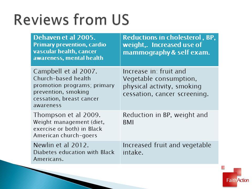 Dehaven et al 2005.