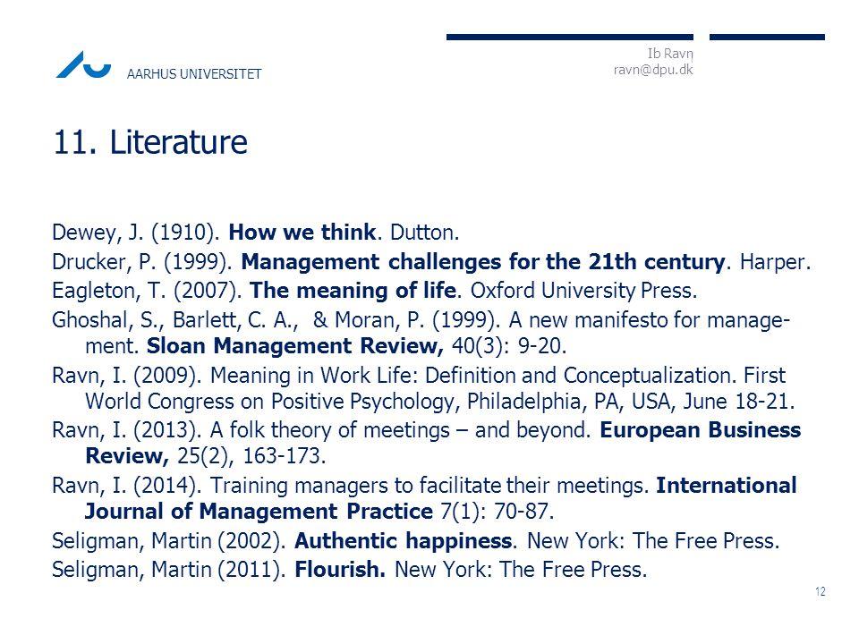 I Ib Ravn ravn@dpu.dk AARHUS UNIVERSITET Dewey, J.