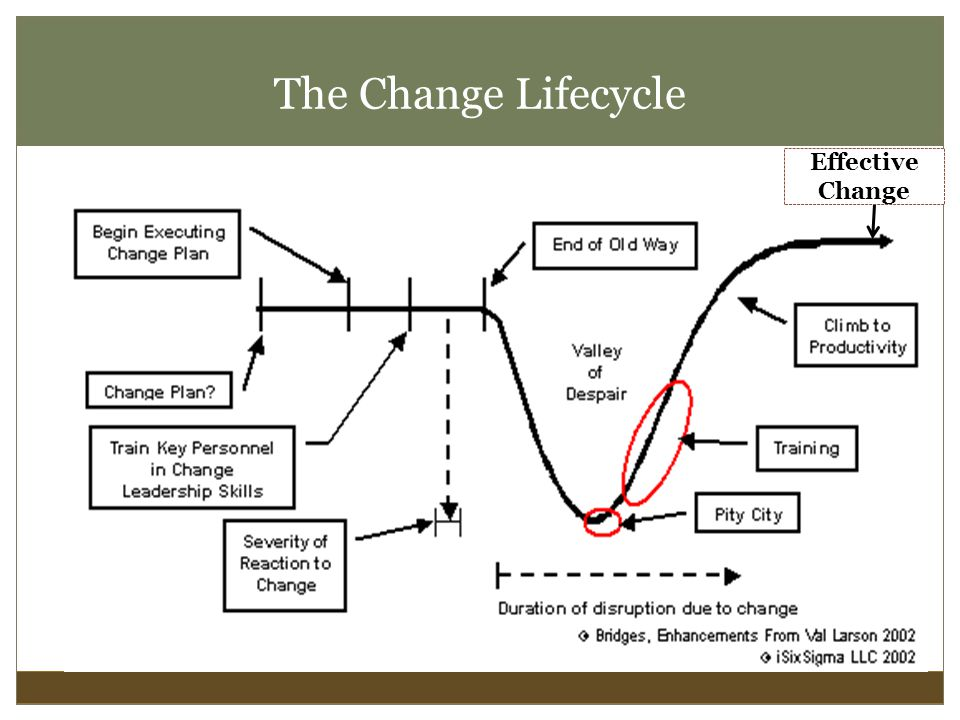 The Change Lifecycle Effective Change
