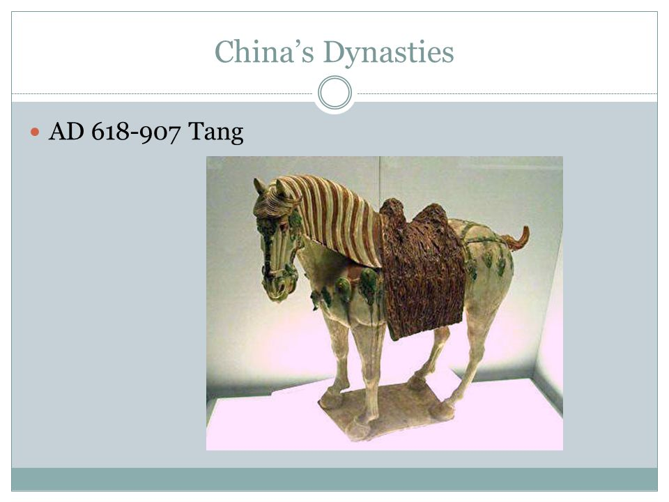 China's Dynasties AD 618-907 Tang