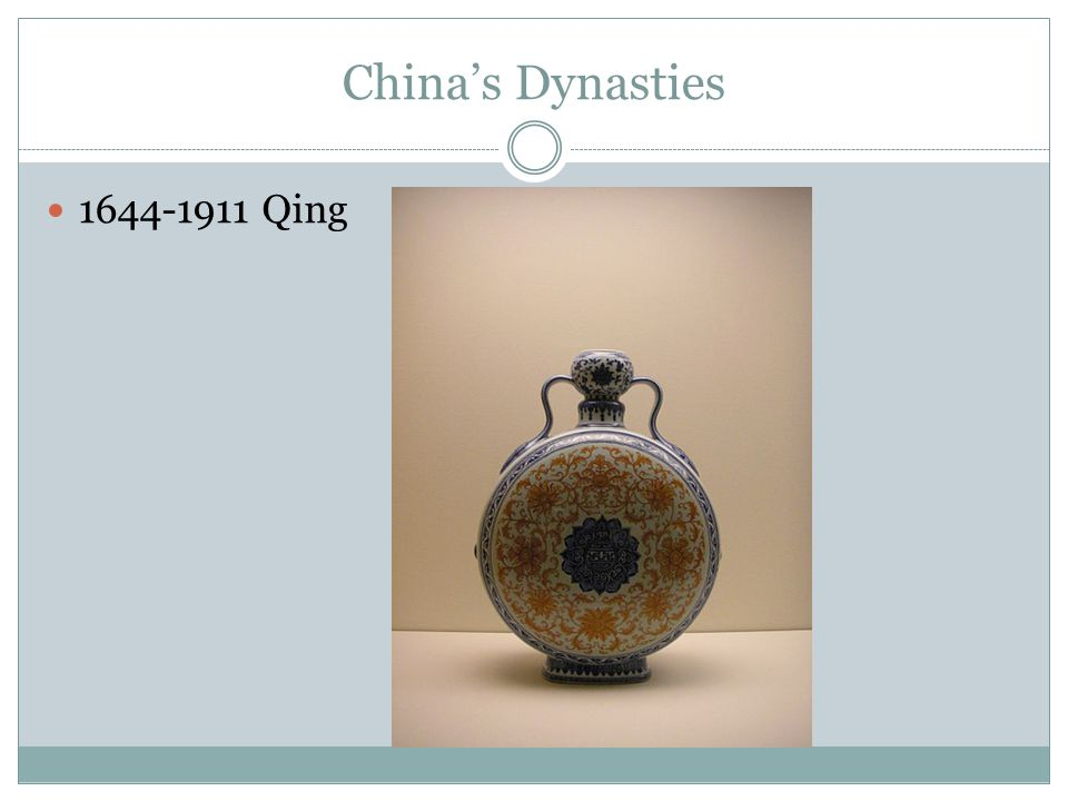China's Dynasties 1644-1911 Qing