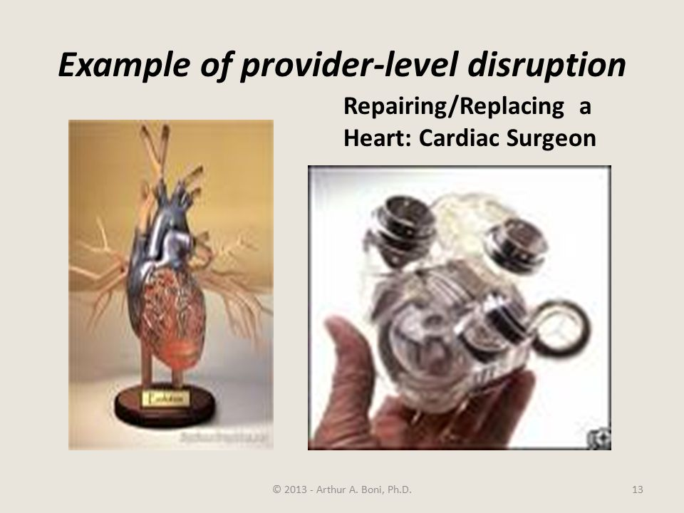 Example of provider-level disruption © 2013 - Arthur A.