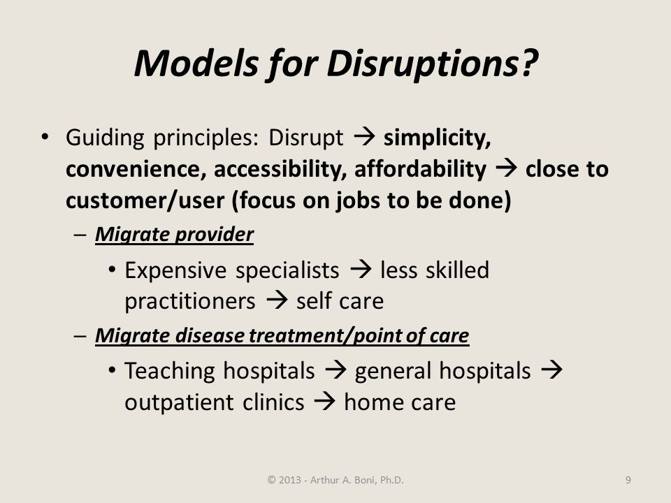 Models for Disruptions.