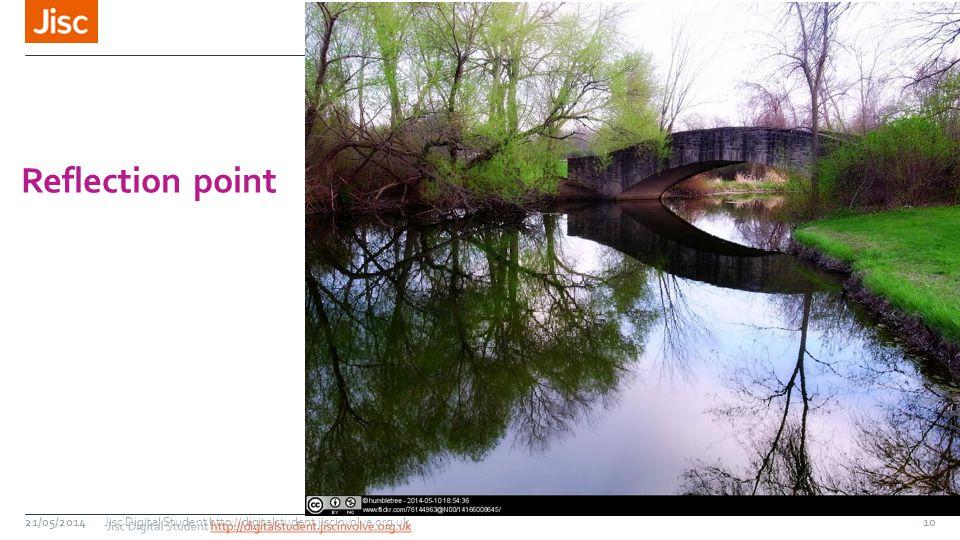 21/05/2014 Reflection point Jisc Digital Student http://digitalstudent.jiscinvolve.org.uk10
