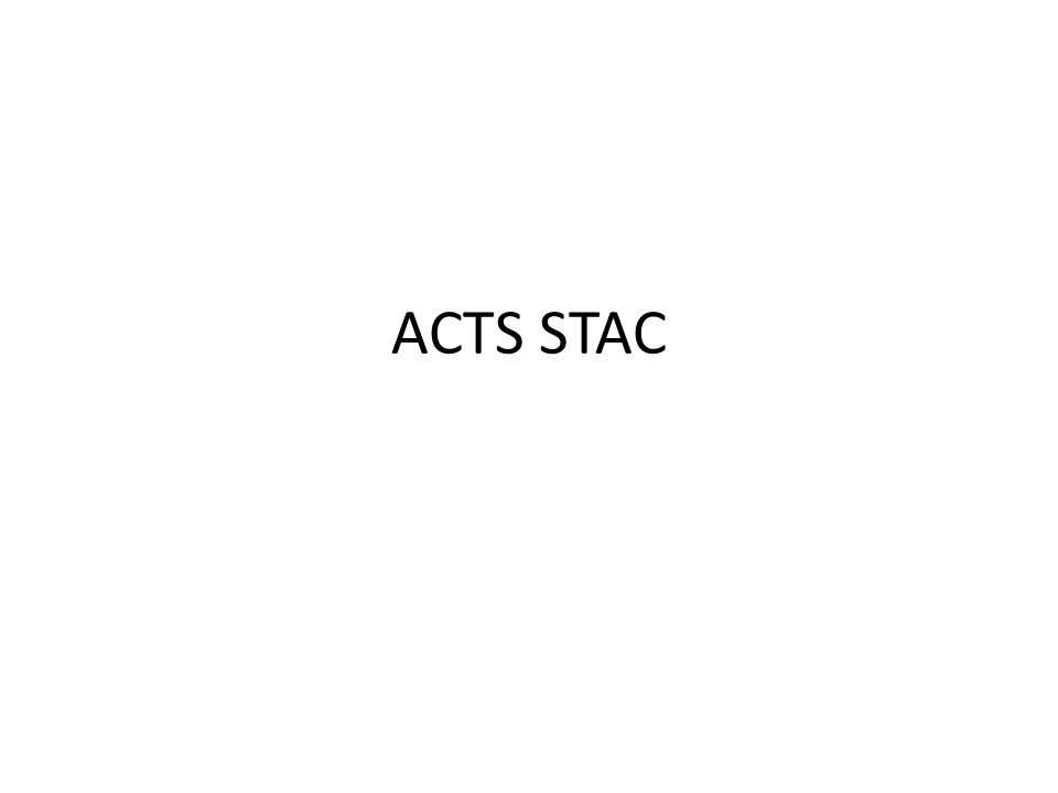 ACTS STAC