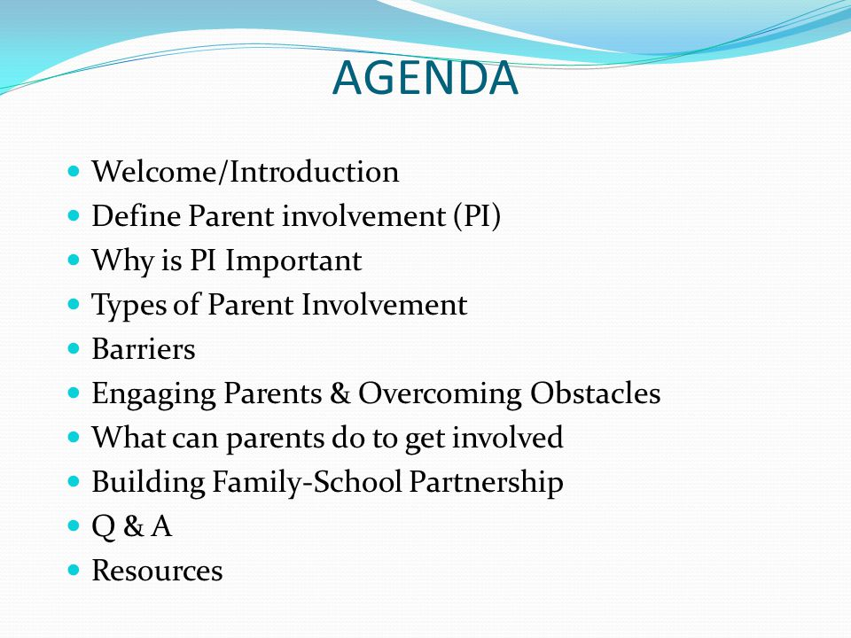 Building Family-School Partnership Research has shown that Family Involvement promotes student success.