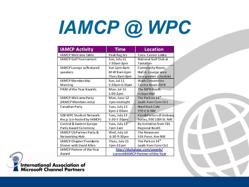 IAMCP @ WPC