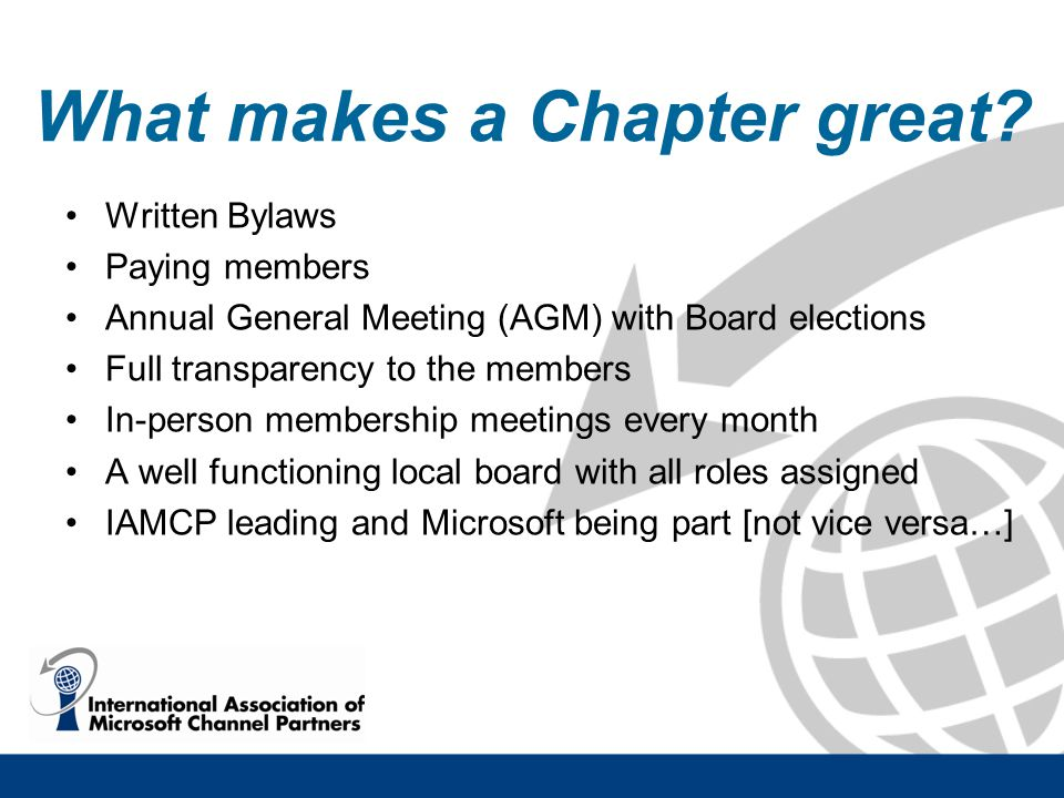 What makes a Chapter great.