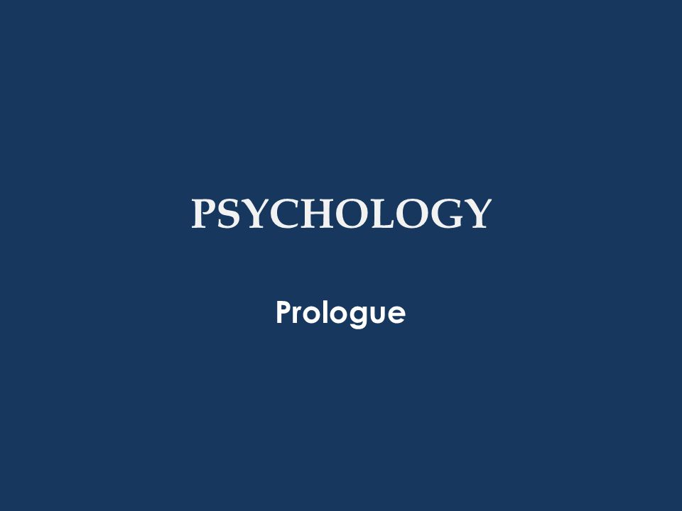 What is Psychology.
