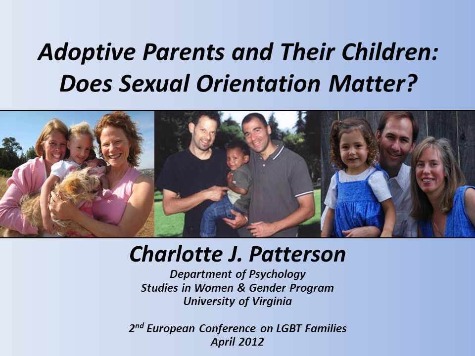 Adoptive Parents and Their Children: Does Sexual Orientation Matter.