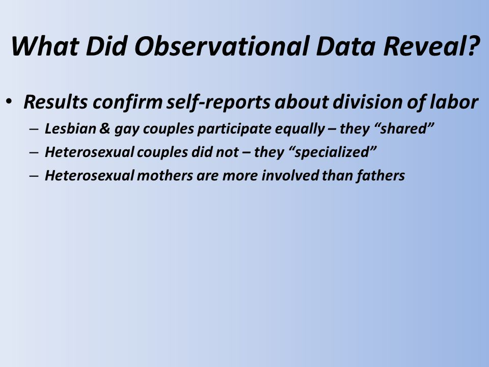 What Did Observational Data Reveal.