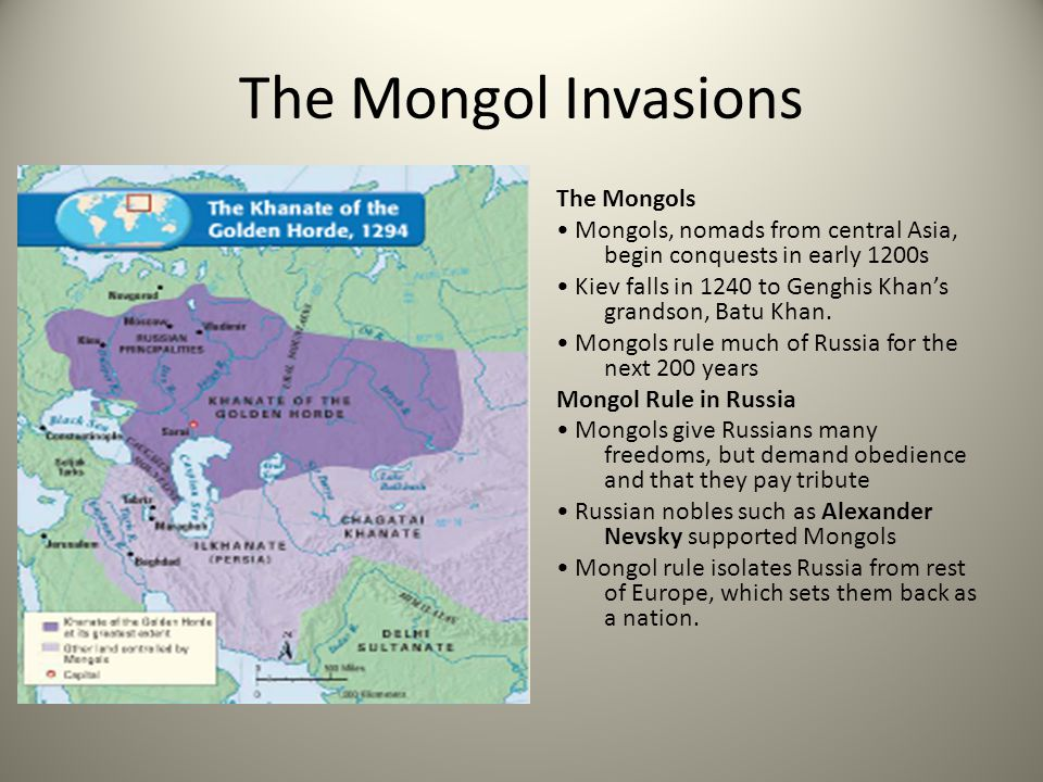 Russia Breaks Free The Rise of Moscow Moscow founded in 1100s—located near Russia's three main rivers Moscow's Powerful Princes Moscow's princes grow strong under Mongol rule throughout the1300s An Empire Emerges Late 1400s Ivan III becomes prince of Moscow - challenges Mongol rule Takes the name czar, Russian for Caesar - vows to restore Russia Russian & Mongol armies face off at Ugra River in 1480 Both armies retreat-Russia gains freedom from Mongol rule