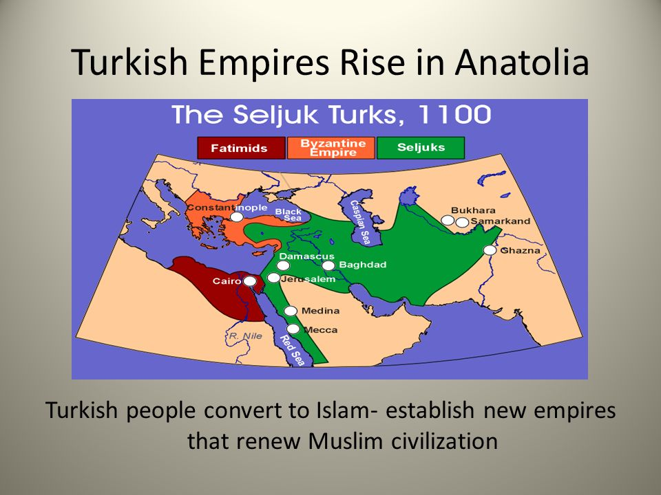 Rise of the Turks Decline of Abbasids Powerful Abbasid Empire under attack during 700s & 800s.