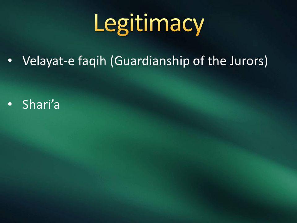 Velayat-e faqih (Guardianship of the Jurors) Shari'a