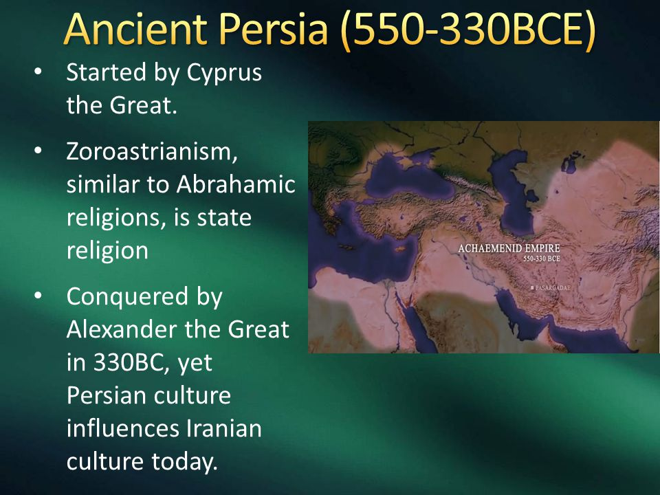 Started by Cyprus the Great.