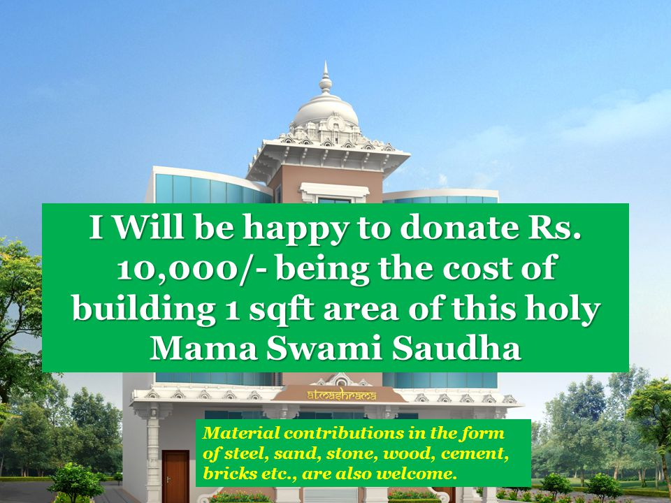 I Will be happy to donate Rs.
