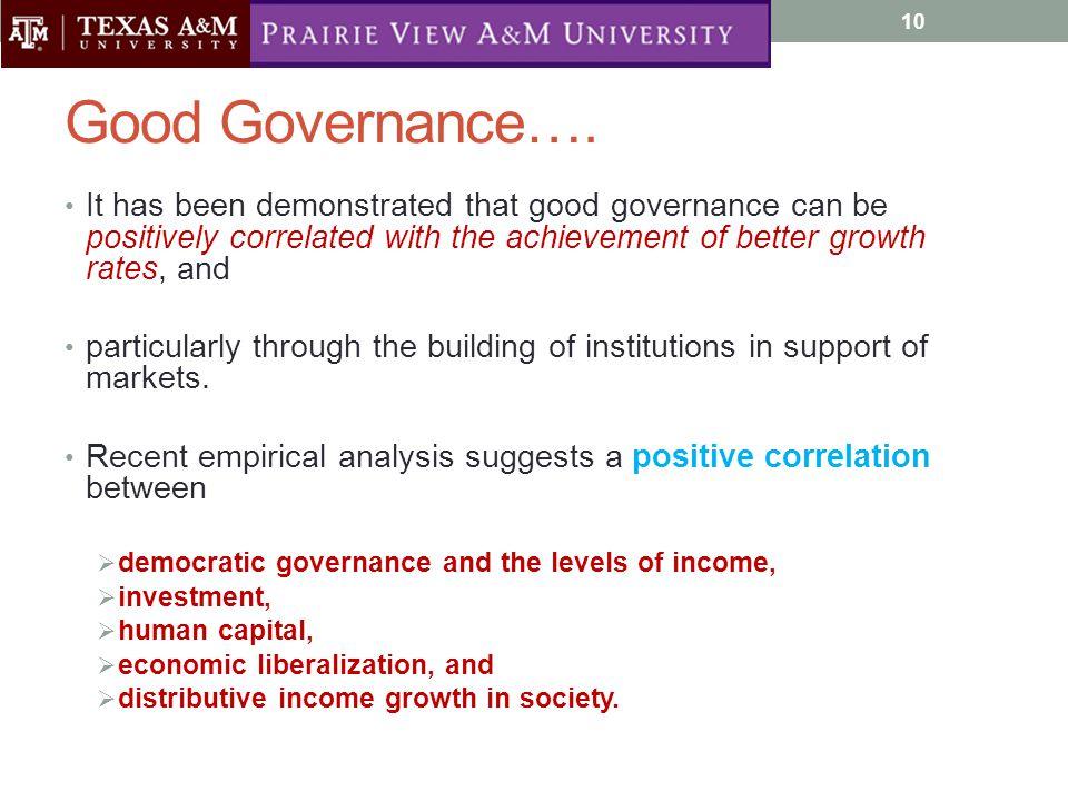 Good Governance….