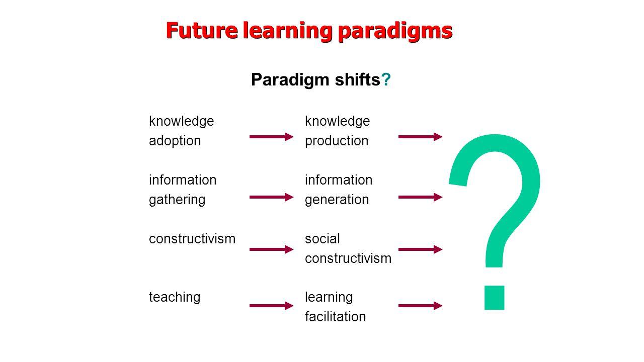 Paradigm shifts.