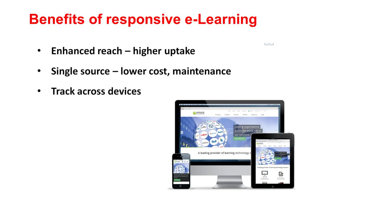 Benefits of responsive e-Learning