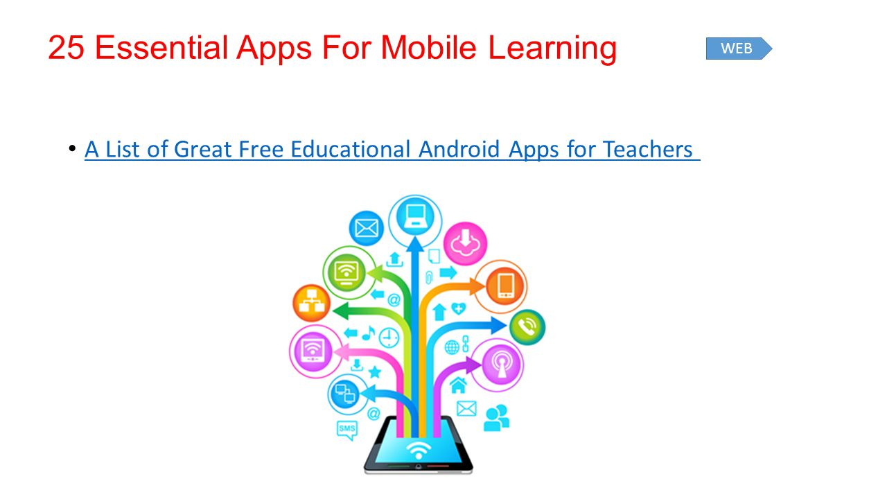 25 Essential Apps For Mobile Learning A List of Great Free Educational Android Apps for Teachers WEB