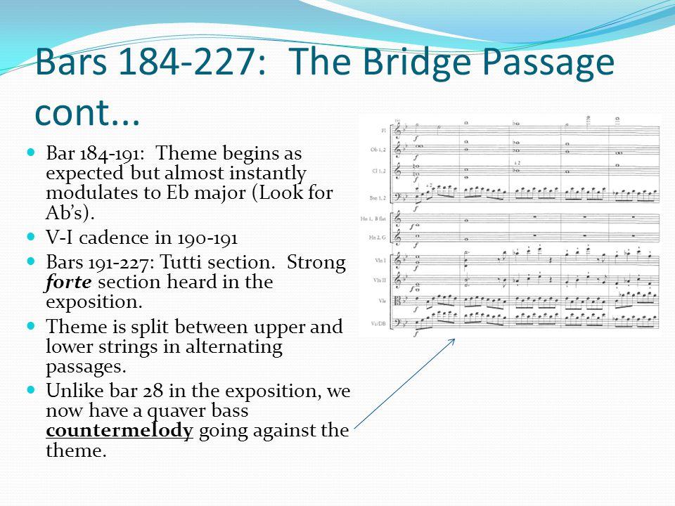 Bars 184-227: The Bridge Passage cont...