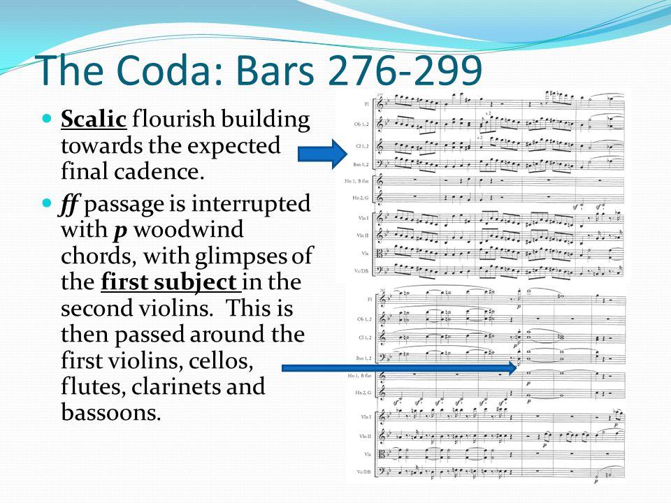 The Coda: Bars 276-299 Scalic flourish building towards the expected final cadence.