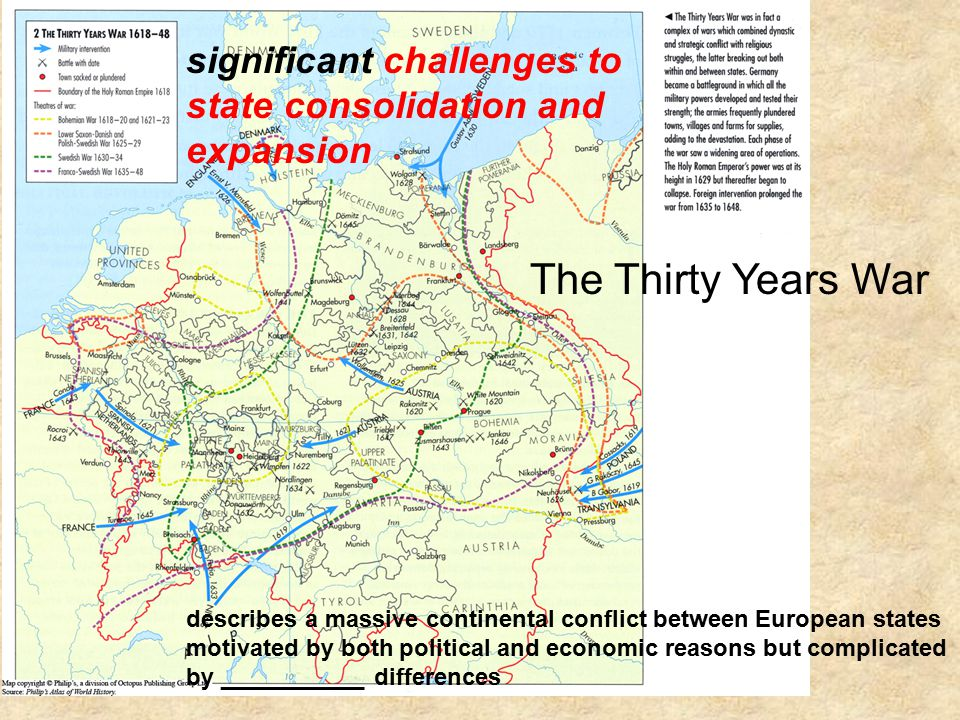 The Thirty Years War significant challenges to state consolidation and expansion describes a massive continental conflict between European states motivated by both political and economic reasons but complicated by ___________ differences