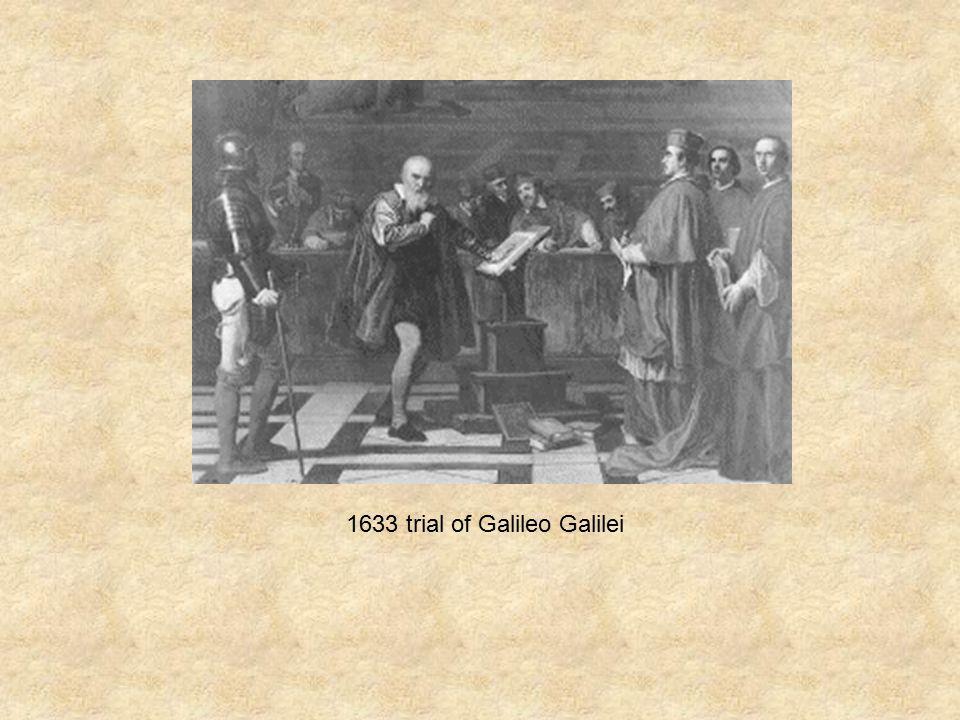 1633 trial of Galileo Galilei