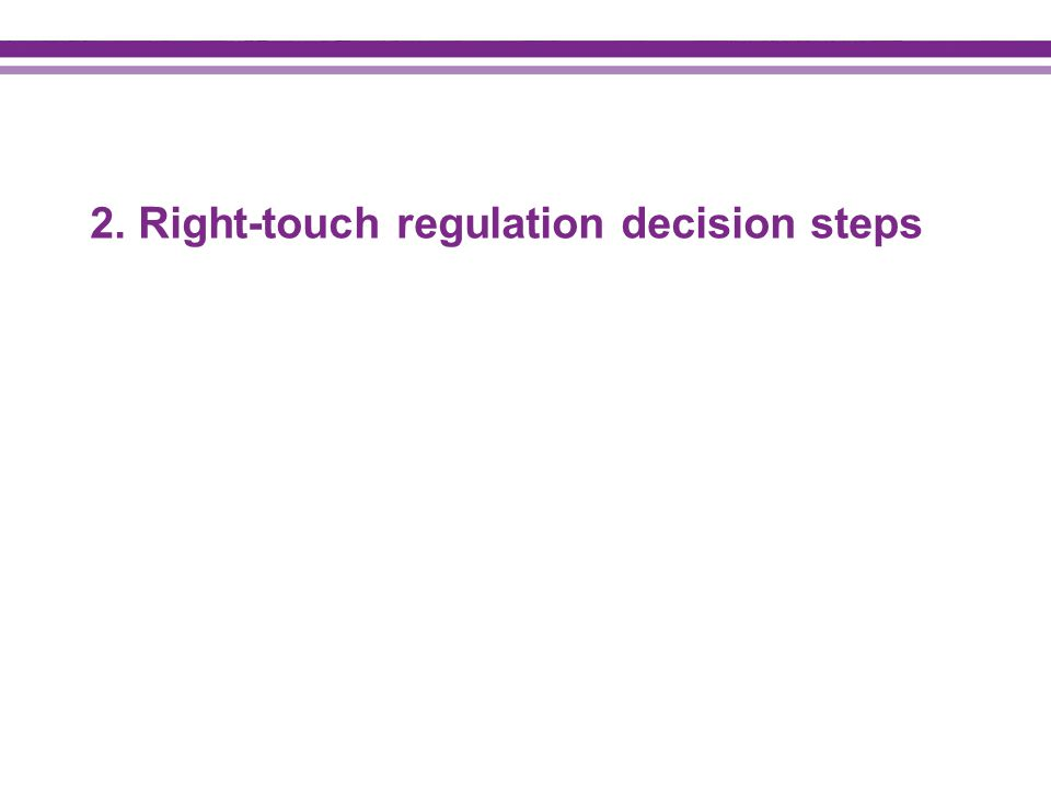 2. Right-touch regulation decision steps