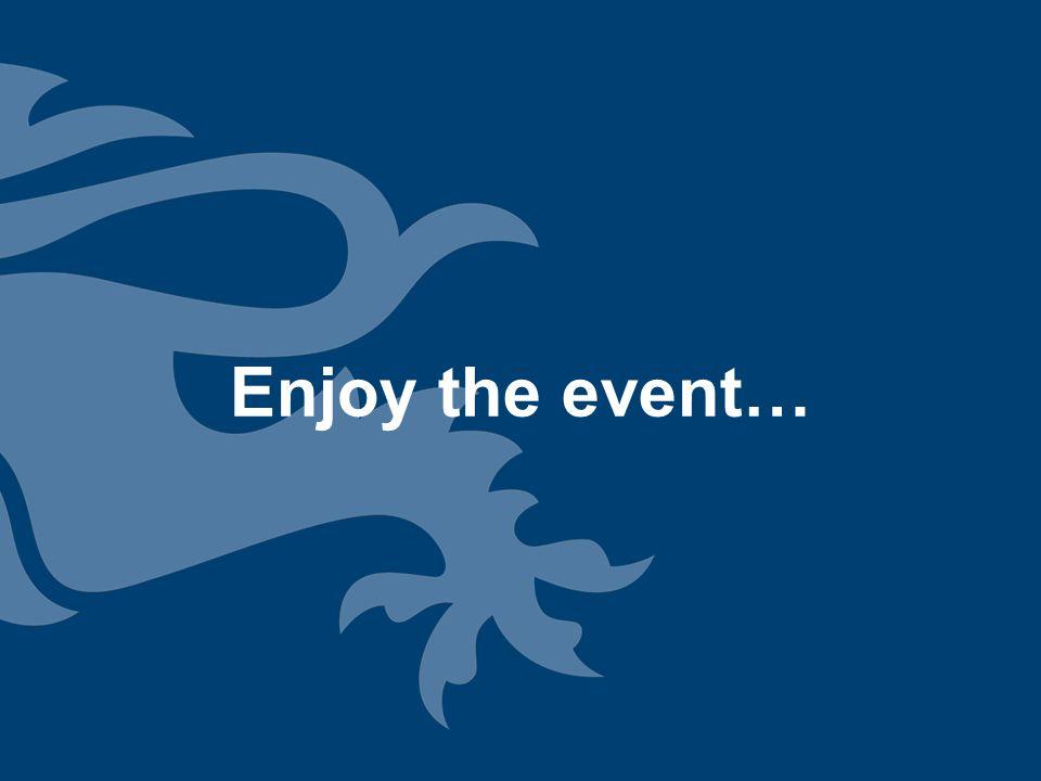 Enjoy the event…
