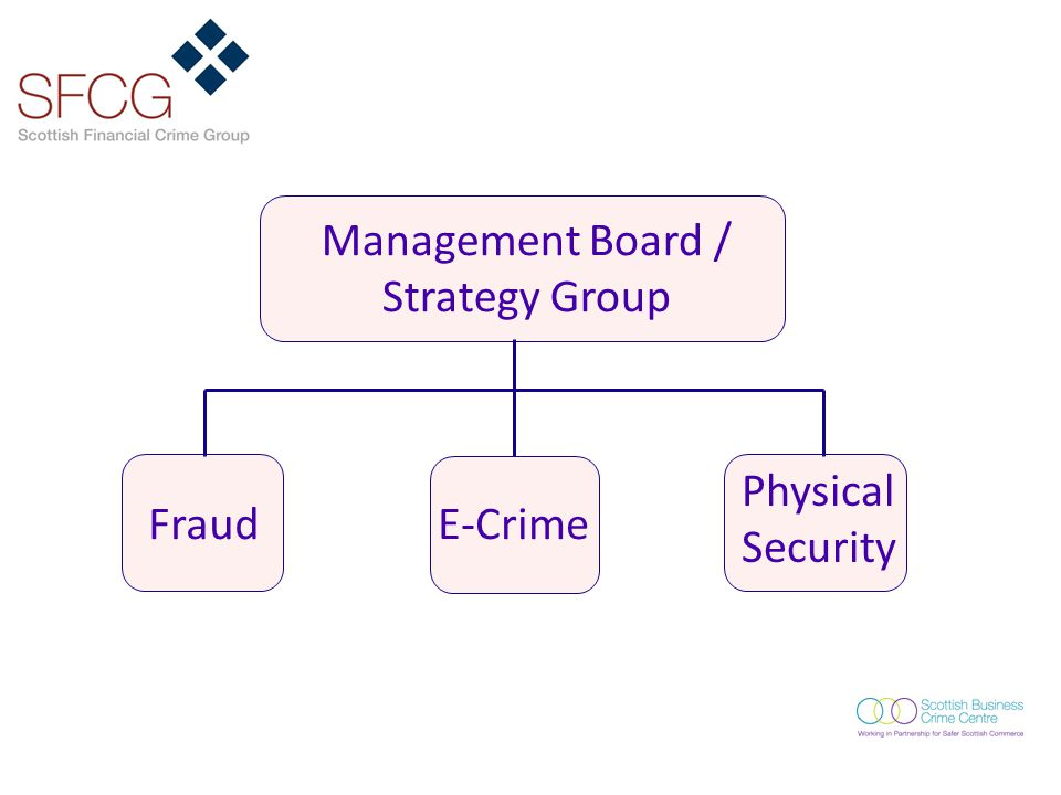 Management Board / Strategy Group FraudE-Crime Physical Security