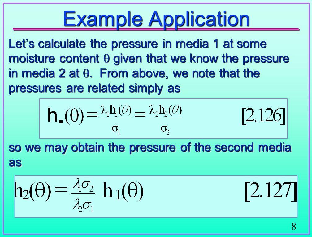 Warrick et al.demonstration of scaled pressure - saturationrelationship Warrick et al.
