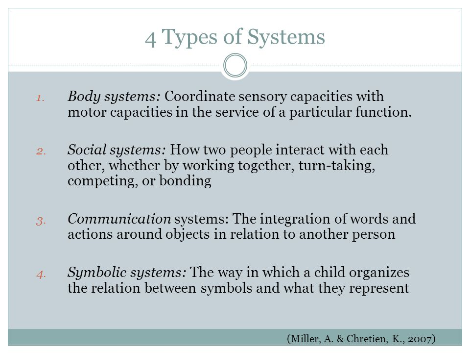 4 Types of Systems 1.