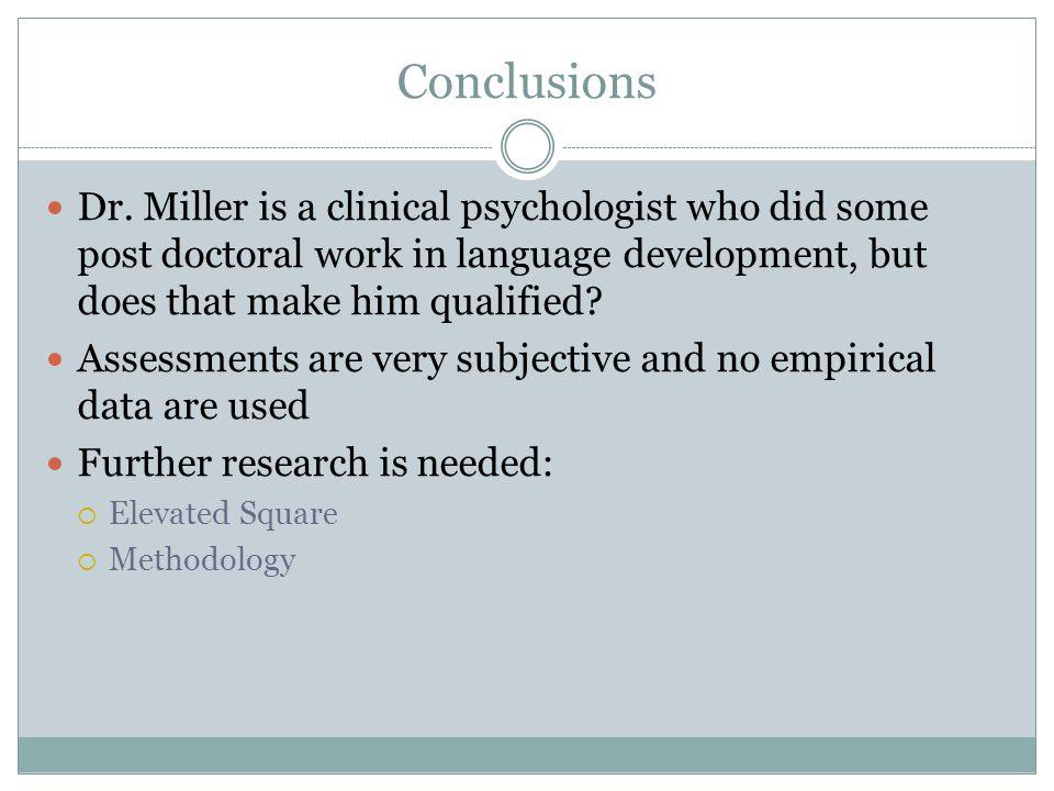 Conclusions Dr.