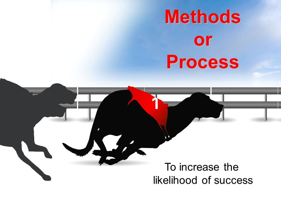 Tools To increase the likelihood of success