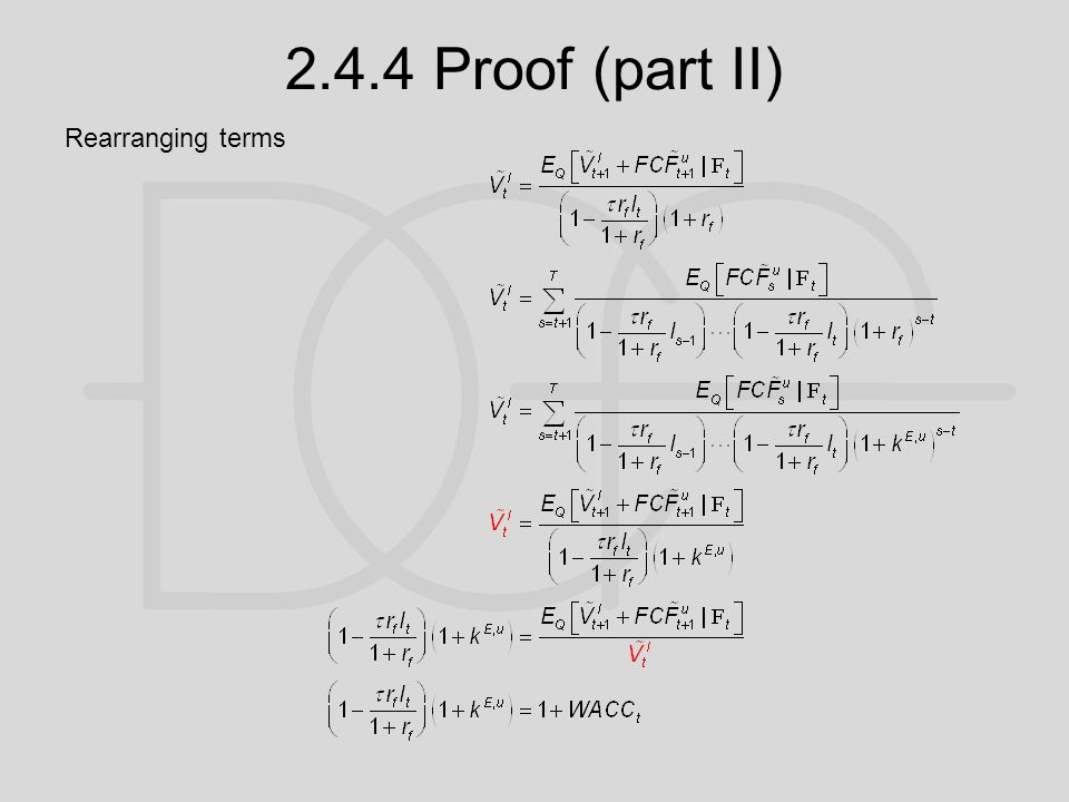 2.4.4 Proof (part II) Rearranging terms