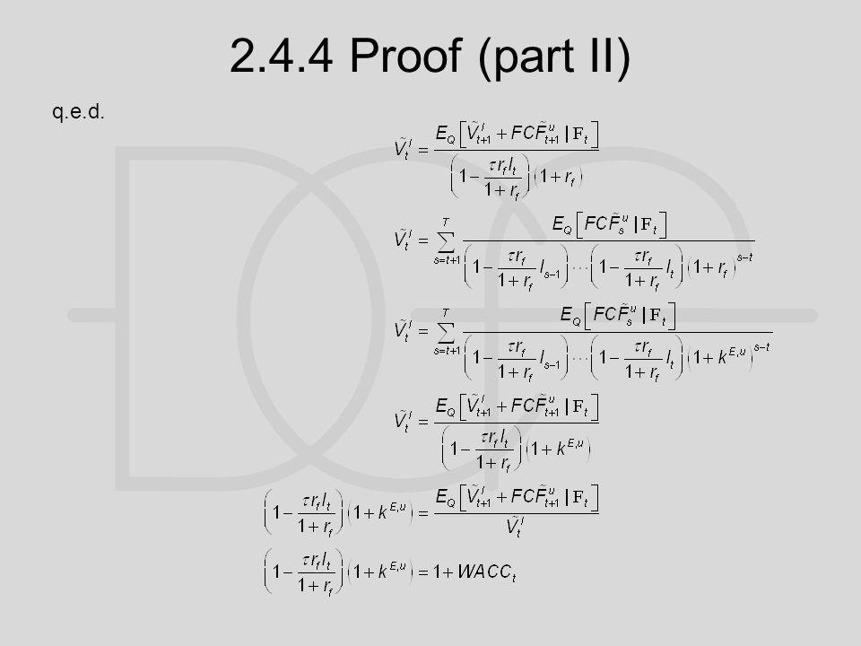 2.4.4 Proof (part II) q.e.d.