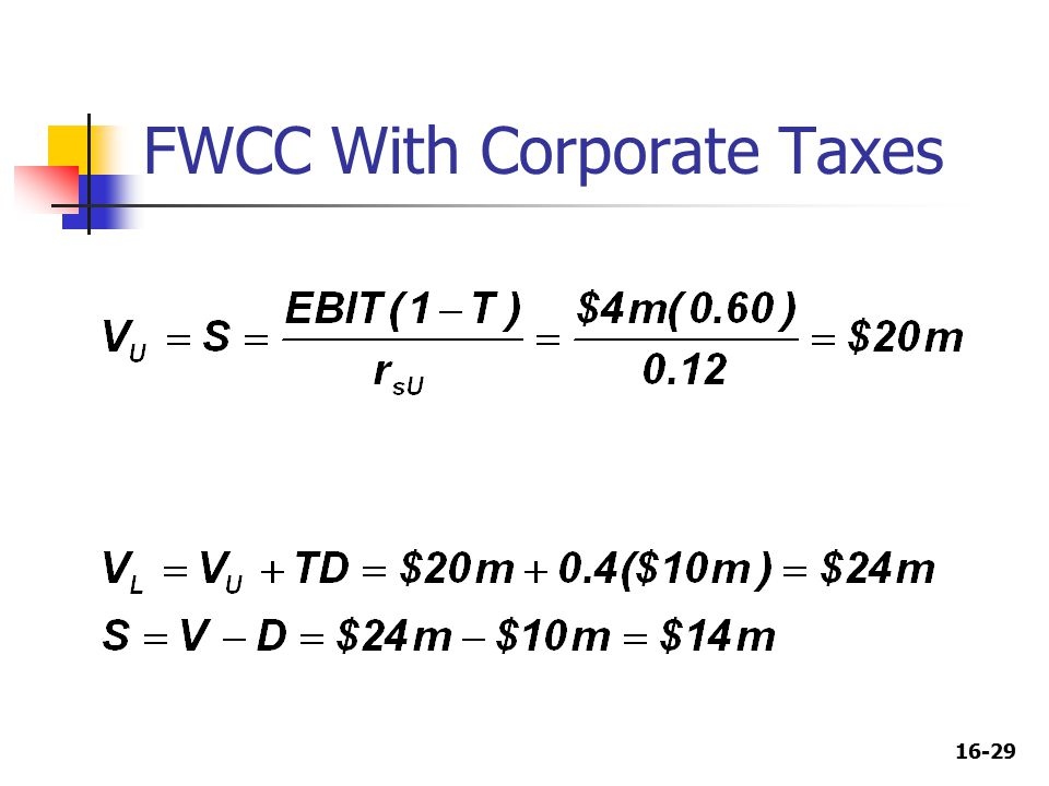 16-29 FWCC With Corporate Taxes