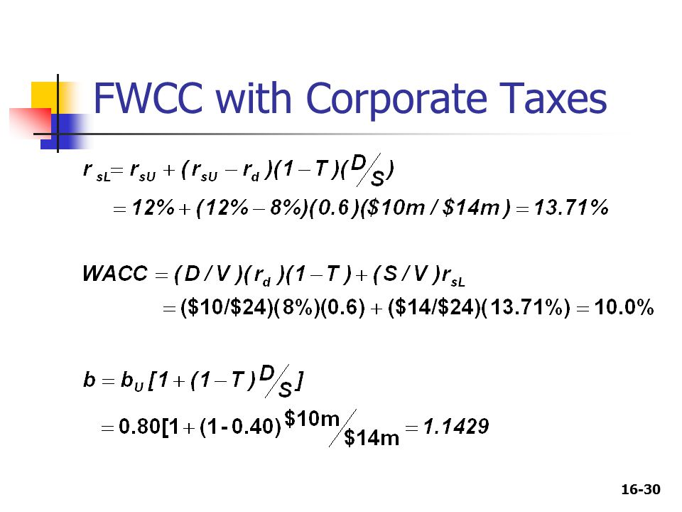 16-30 FWCC with Corporate Taxes